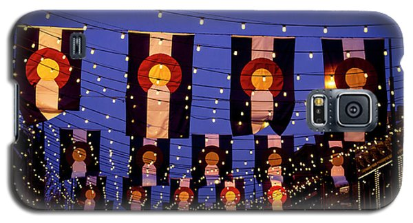 Colorado Flags On Larimer Square Denver Galaxy S5 Case