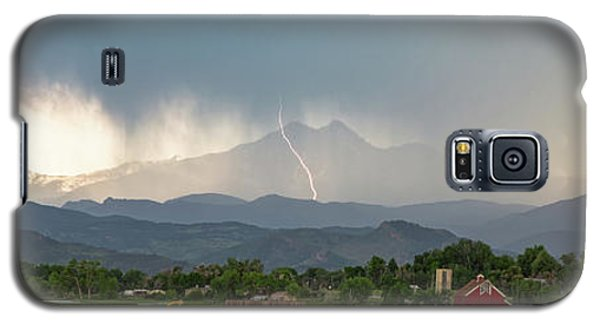 Galaxy S5 Case featuring the photograph Colorado Front Range Lightning And Rain Panorama View by James BO Insogna