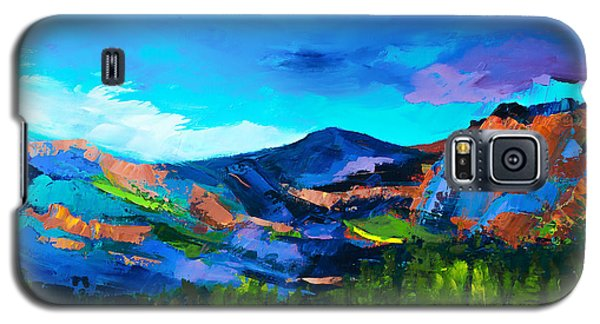 Galaxy S5 Case featuring the painting Colorado Hills by Elise Palmigiani