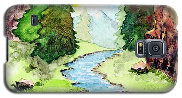 Galaxy S5 Case featuring the painting Colorado Marathon Logo by Tom Riggs