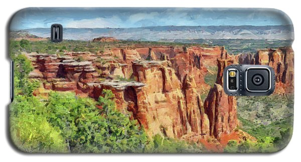 Galaxy S5 Case featuring the digital art Colorado National Monument 1 by Digital Photographic Arts