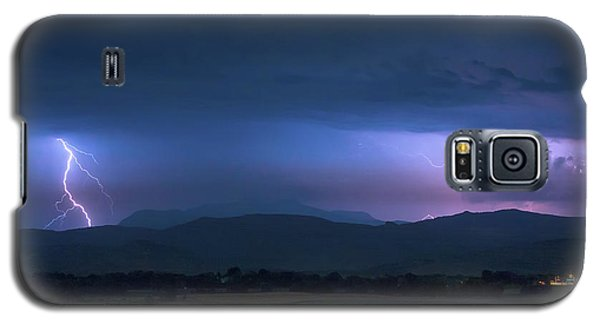 Galaxy S5 Case featuring the photograph Colorado Rocky Mountain Foothills Storm by James BO Insogna