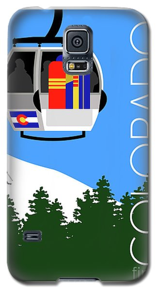 Colorado Ski Country Blue Galaxy S5 Case