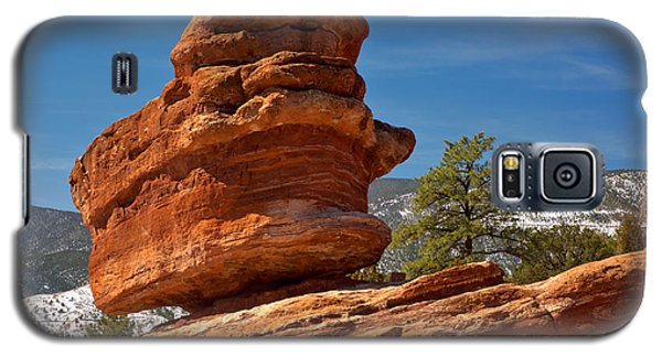 Galaxy S5 Case featuring the photograph Colorado Springs Balanced Rock by Adam Jewell