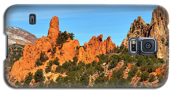 Galaxy S5 Case featuring the photograph Colorado Springs Garden Of The Gods High Point Panorama by Adam Jewell