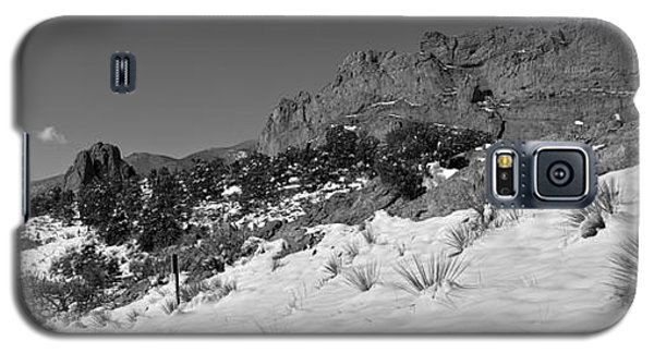 Galaxy S5 Case featuring the photograph Colorado Winter Rock Garden Black And White by Adam Jewell