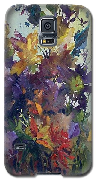 Galaxy S5 Case featuring the painting Colorburst by Helen Harris