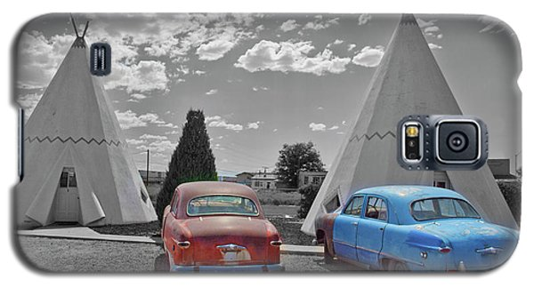 Colored Cars And Tee Pee Motel--holbrook Galaxy S5 Case