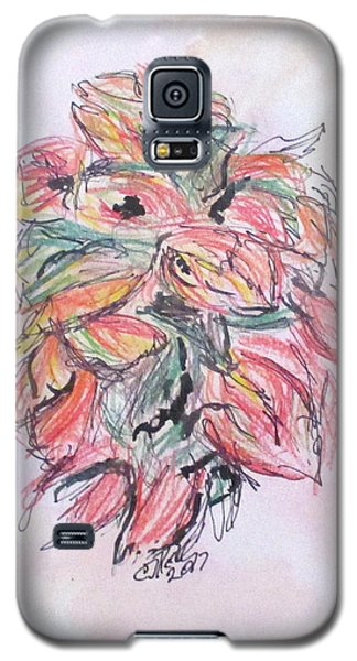 Colored Pencil Flowers Galaxy S5 Case