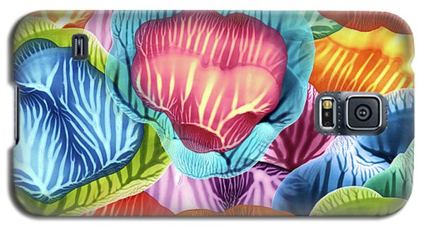 Colorful Abstract Flower Petals Galaxy S5 Case