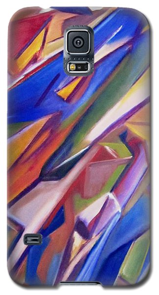 Galaxy S5 Case featuring the painting Colorful Abstract by Patricia Cleasby
