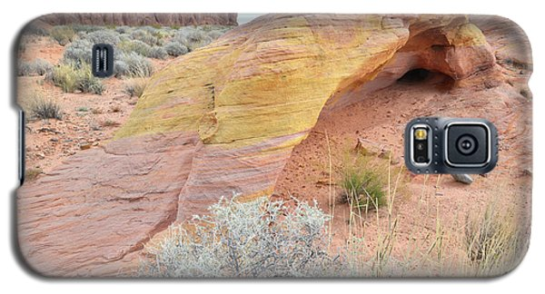 Galaxy S5 Case featuring the photograph Colorful Arch In North Valley Of Fire by Ray Mathis