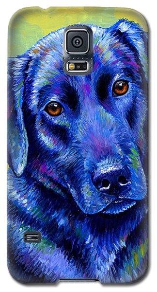 Colorful Black Labrador Retriever Dog Galaxy S5 Case