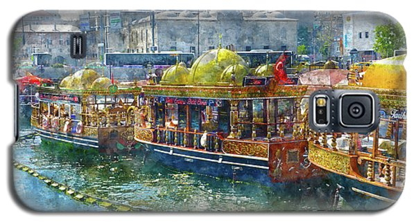 Colorful Boats In Istanbul Turkey Galaxy S5 Case