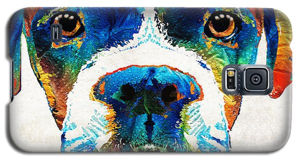 Colorful Boxer Dog Art By Sharon Cummings  Galaxy S5 Case by Sharon Cummings