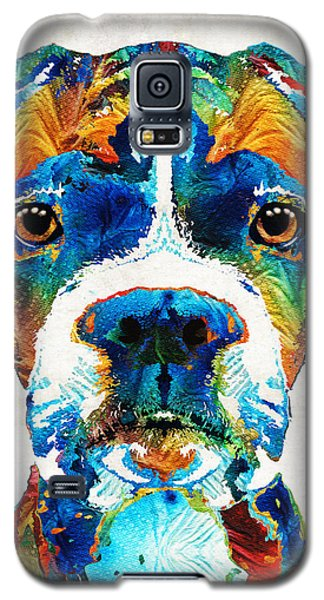 Colorful Boxer Dog Art By Sharon Cummings  Galaxy S5 Case
