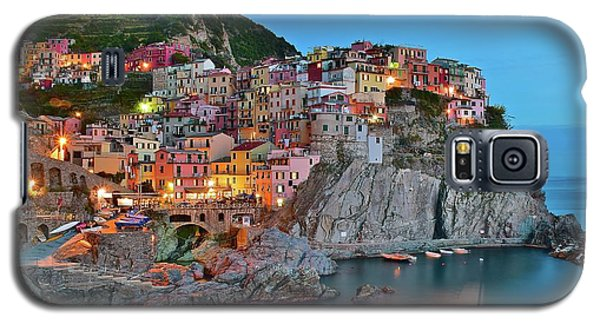 Galaxy S5 Case featuring the photograph Colorful Buildings Colorful Lights by Frozen in Time Fine Art Photography