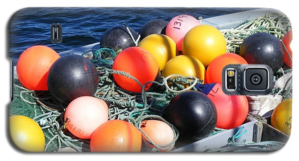 Galaxy S5 Case featuring the photograph Colorful Buoys by Barbara Griffin