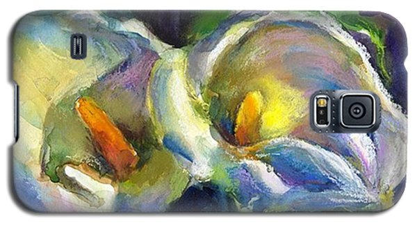 Galaxy S5 Case - Colorful Calla Flowers Painting By by Svetlana Novikova
