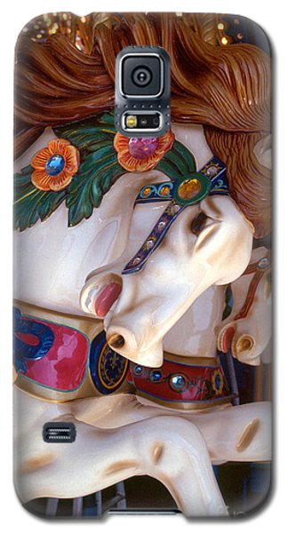 colorful carousel horse photograph - Romping Redhead Galaxy S5 Case