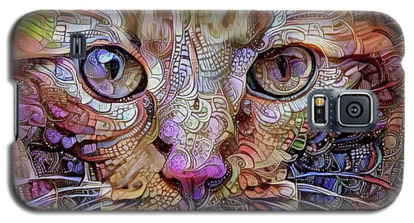 Colorful Cat Art Galaxy S5 Case