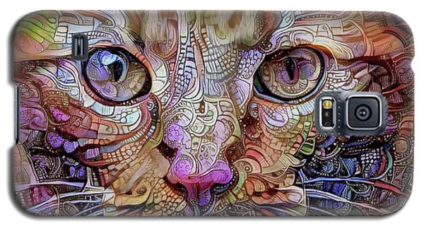 Colorful Cat Art Galaxy S5 Case by Peggy Collins