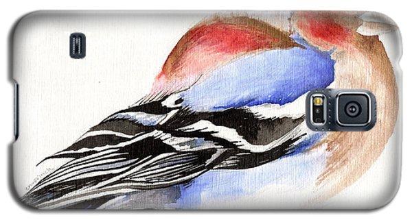 Colorful Chaffinch Galaxy S5 Case by Nancy Moniz