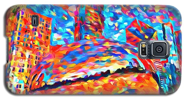 Galaxy S5 Case featuring the painting Colorful Chicago Bean by Dan Sproul