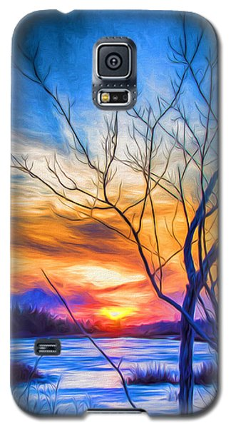 Colorful Cold Sunset Galaxy S5 Case