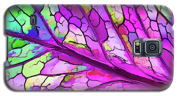 Colorful Coleus Abstract 3 Galaxy S5 Case