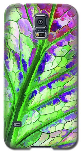 Colorful Coleus Abstract 4 Galaxy S5 Case