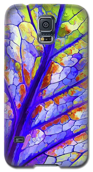 Colorful Coleus Abstract 6 Galaxy S5 Case