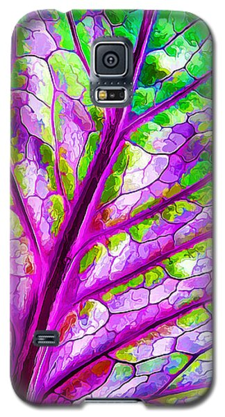 Galaxy S5 Case featuring the digital art Colorful Coleus Abstract 1 by ABeautifulSky Photography