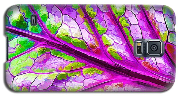 Colorful Coleus Abstract 2 Galaxy S5 Case by ABeautifulSky Photography