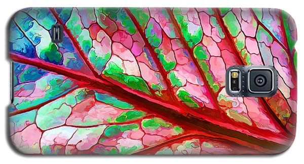 Galaxy S5 Case featuring the digital art Colorful Coleus Abstract 5 by ABeautifulSky Photography