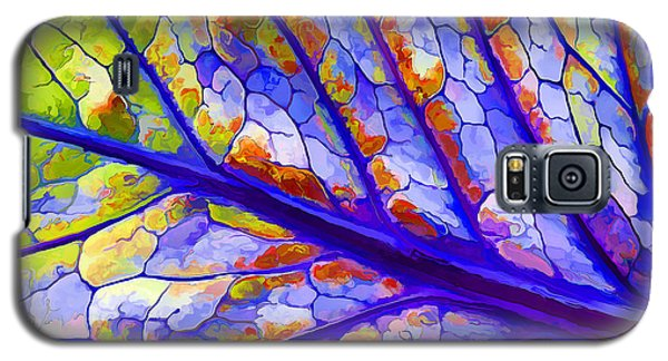Galaxy S5 Case featuring the digital art Colorful Coleus Abstract 6 by ABeautifulSky Photography