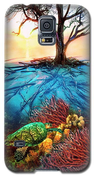 Galaxy S5 Case featuring the photograph Colorful Coral Seas by Debra and Dave Vanderlaan