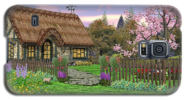 Colorful Country Cottage Galaxy S5 Case