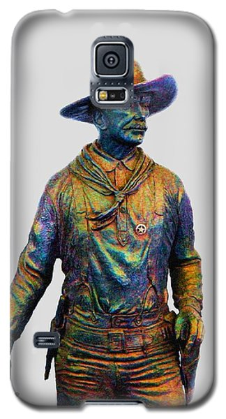 Galaxy S5 Case featuring the photograph Colorful Cowboy Sculpture by Ellen O'Reilly