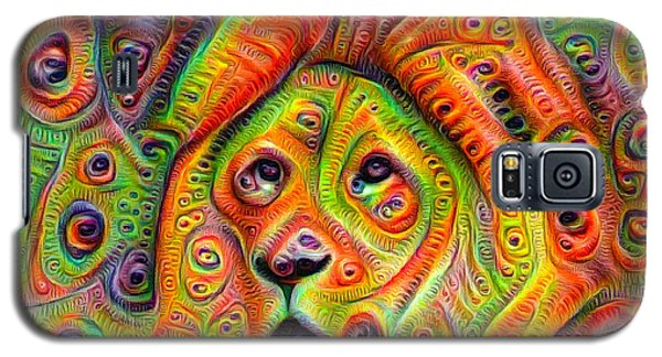 Colorful Crazy Lion Deep Dream Galaxy S5 Case