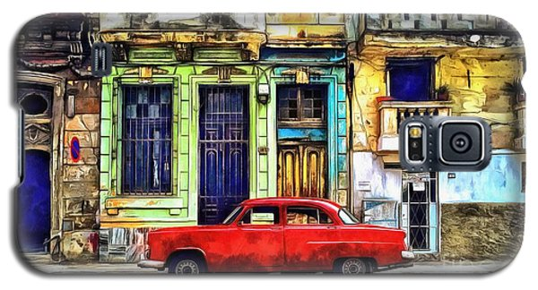 Galaxy S5 Case featuring the painting Colorful Cuba by Edward Fielding