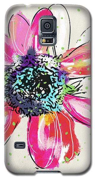 Galaxy S5 Case featuring the mixed media Colorful Daisy- Art By Linda Woods by Linda Woods