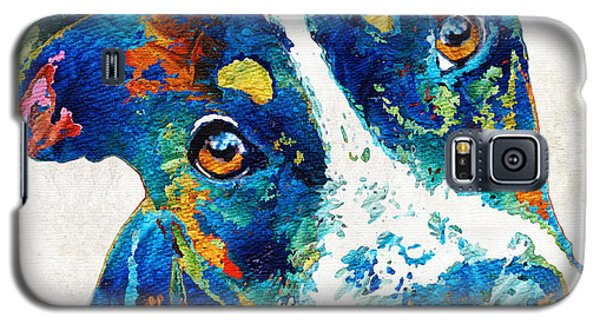 Colorful Dog Art - Happy Go Lucky - By Sharon Cummings Galaxy S5 Case