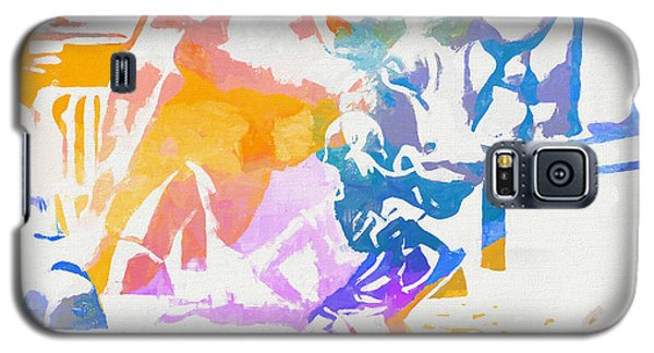Galaxy S5 Case featuring the painting Colorful Fearless Girl by Dan Sproul