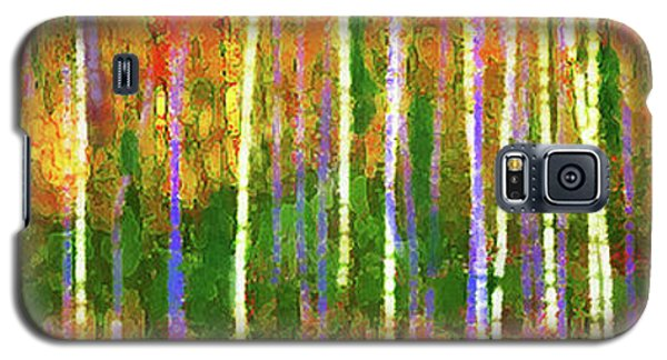 Colorful Forest Abstract Galaxy S5 Case