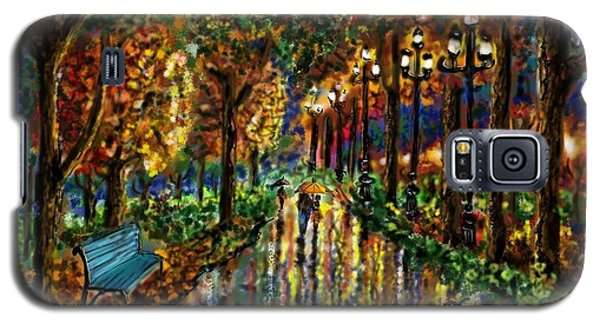 Galaxy S5 Case featuring the digital art Colorful Forest by Darren Cannell