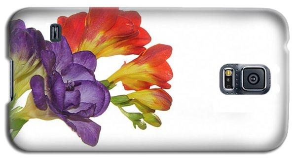 Colorful Freesias Galaxy S5 Case by Elvira Ladocki