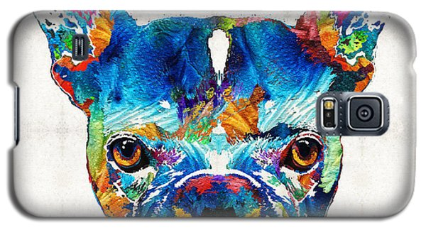 Colorful French Bulldog Dog Art By Sharon Cummings Galaxy S5 Case