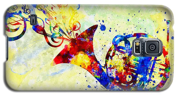 Colorful French Horn Galaxy S5 Case by Olga Hamilton