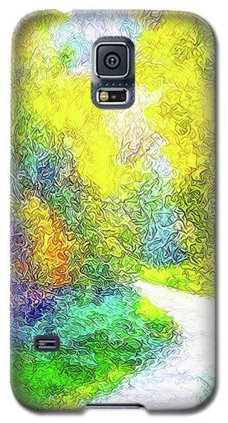Colorful Garden Pathway - Trail In Santa Monica Mountains Galaxy S5 Case